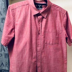 Hurley Bottom Down Short Sleeve Dress Shirt